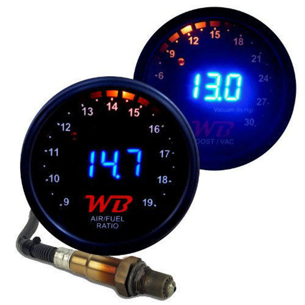 Picture of WB 2 GAUGE COMPLETE COMBO D2 Wideband Controller + B2 Boost Display Gauges